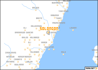 map of Solongon