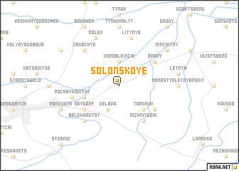 map of Solonskoye