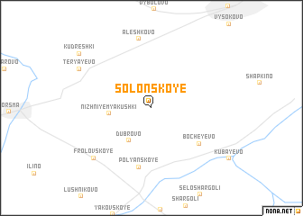 map of Solonskoye