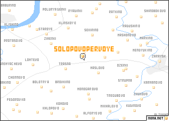 map of Solopovo Pervoye