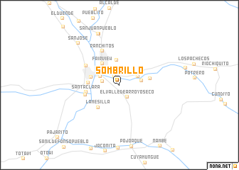 map of Sombrillo