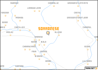 map of Sommarese