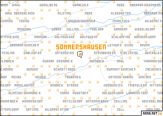 map of Sommershausen