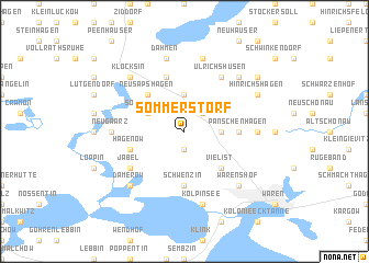 map of Sommerstorf