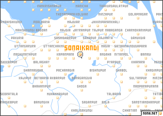 map of Sonāikāndi