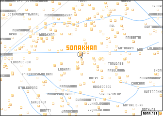 map of Sona Khān