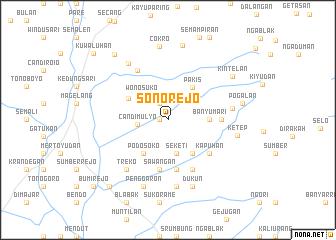 map of Sonorejo