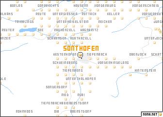 map of Sonthofen