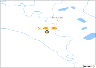 map of Sopochina