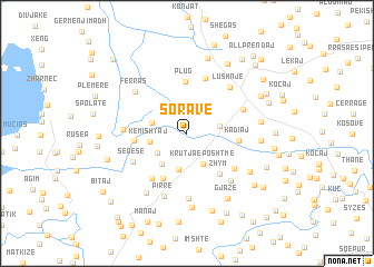 map of (( Soravë ))