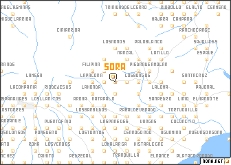 map of Sorá