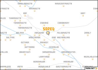 map of Söréd