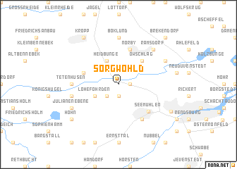 map of Sorgwohld