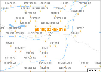 map of Sorogozhskoye