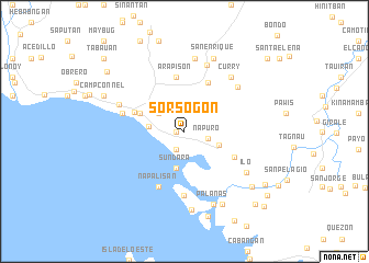 map of Sorsogon