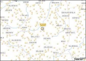 map of Šor