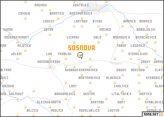 map of Sosnová