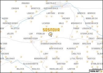 map of Sosnová