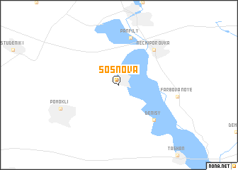 map of Sosnova