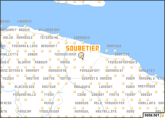 map of Soubetier
