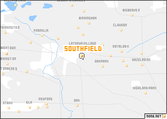 Southfield United States USA map nonanet