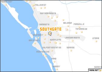 map of Southgate