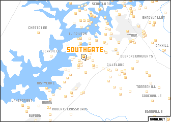 map of Southgate