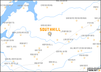 map of South Hill