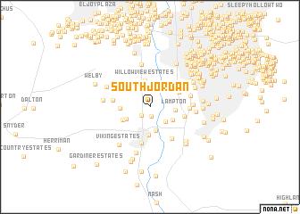 South Jordan United States USA map nonanet
