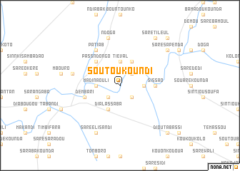 map of Soutoukoundi