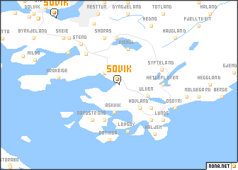 map of Søvik