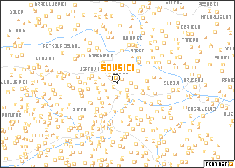map of Šovšići