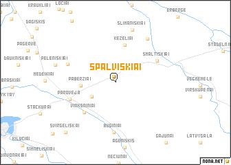map of Spalviškiai