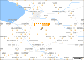 map of Spannarp