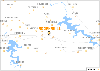 map of Sparks Mill