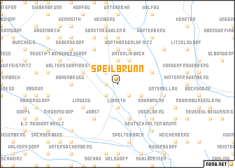 map of Speilbrunn