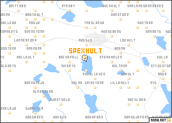 map of Spexhult