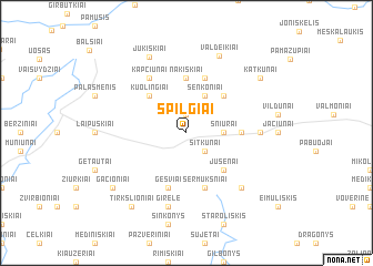map of Spilgiai