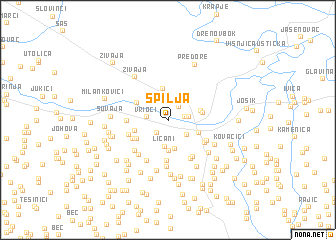 map of Spilja