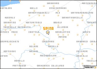 map of Spina
