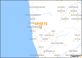 map of Spineto