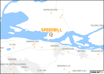 map of Spoonbill