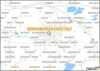 map of Spremberger Vorstadt