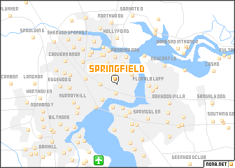 Springfield Usa Map.Springfield United States Usa Map Nona Net