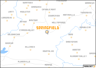 map of Springfield