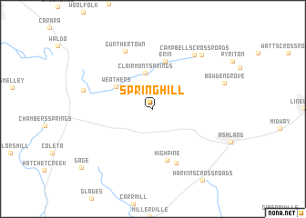 map of Springhill