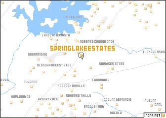 map of Springlake Estates