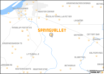 Spring Valley United States USA map nonanet