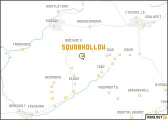 map of Squab Hollow