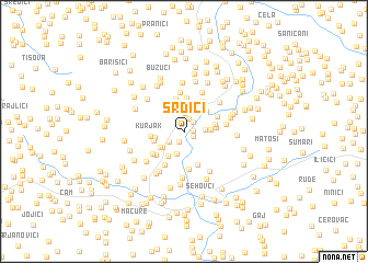 map of Srdići